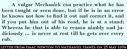 letter from newton